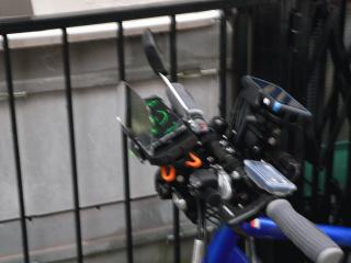 自転車にHUD装着したよ!